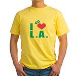 I Love (Heart) L.A. Yellow T-Shirt