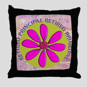 RETIRED PRINCIPAL BLANKET PINK Throw Pillow
