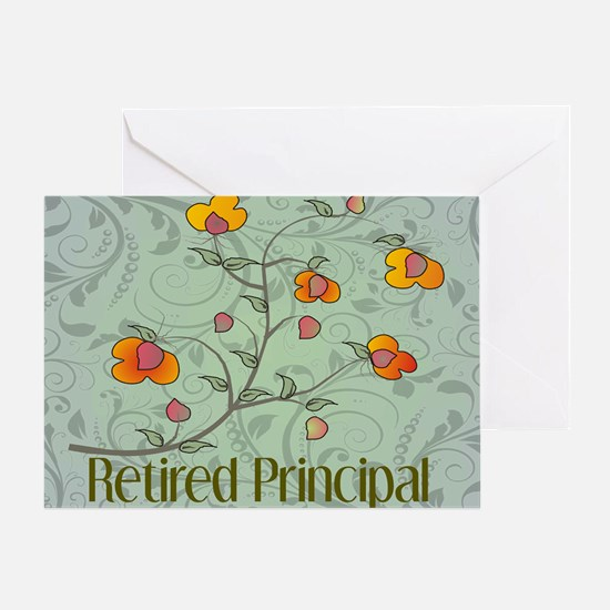 retired principal vines 2 Greeting Card