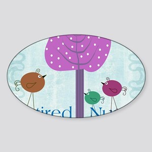 RN blanket 6 Sticker (Oval)