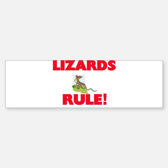 Lizards Rule! Bumper Bumper Bumper Sticker