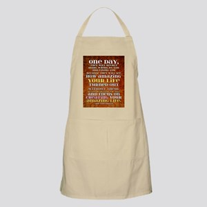 one day poster Apron