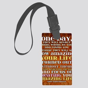 one day poster Large Luggage Tag