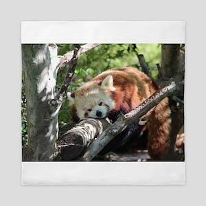 Sleepy Red Panda Queen Duvet