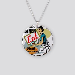 MOMS-DINER Necklace Circle Charm