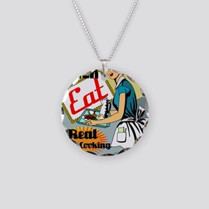 mOMS-DINER-9X12-framed-print Necklace Circle Charm