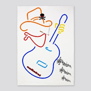 Cowboy Guitar 6000 5'x7'Area Rug