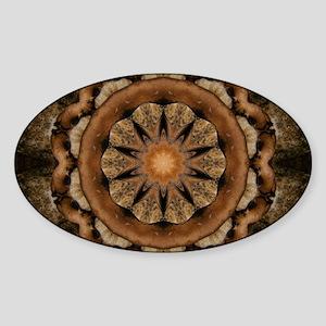 Dog Paw Kaleidoscope Sticker (Oval)