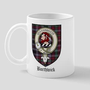 Borthwick Clan Crest Tartan Mug