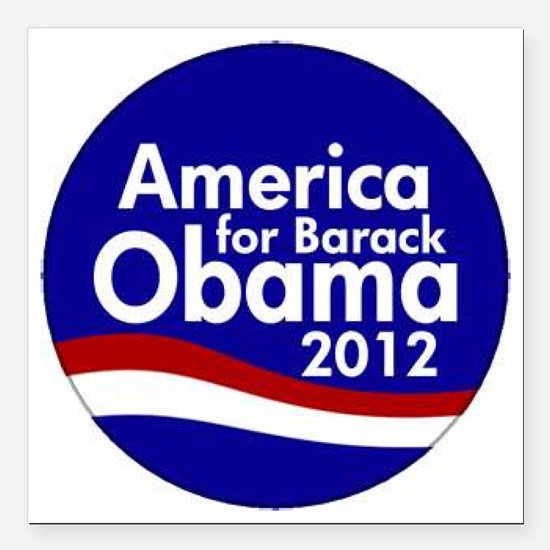 "Obama 2012 Square Car Magnet 3"" x 3"""
