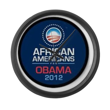 African Americans for Obama Large Wall Clock