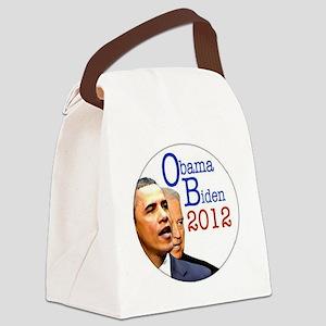 obama biden Canvas Lunch Bag