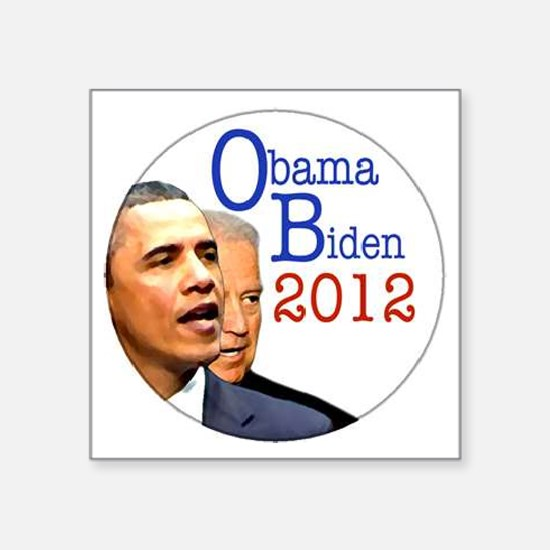 "obama biden Square Sticker 3"" x 3"""