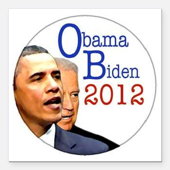 "obama biden Square Car Magnet 3"" x 3"""