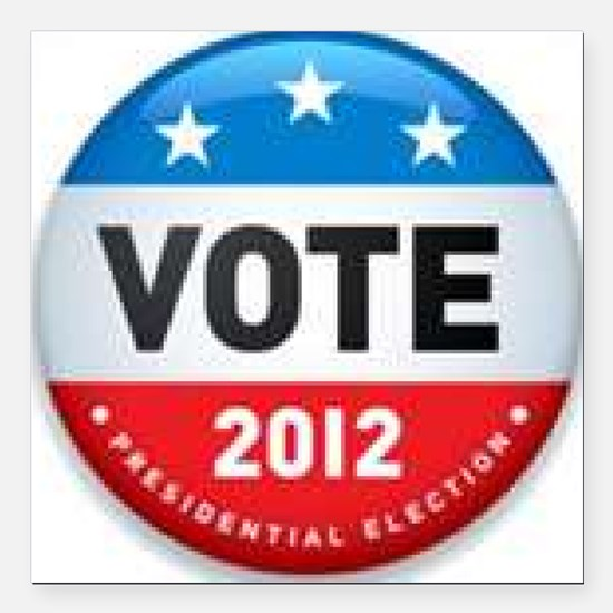 """Vote 2012 Square Car Magnet 3"""" x 3"""""""