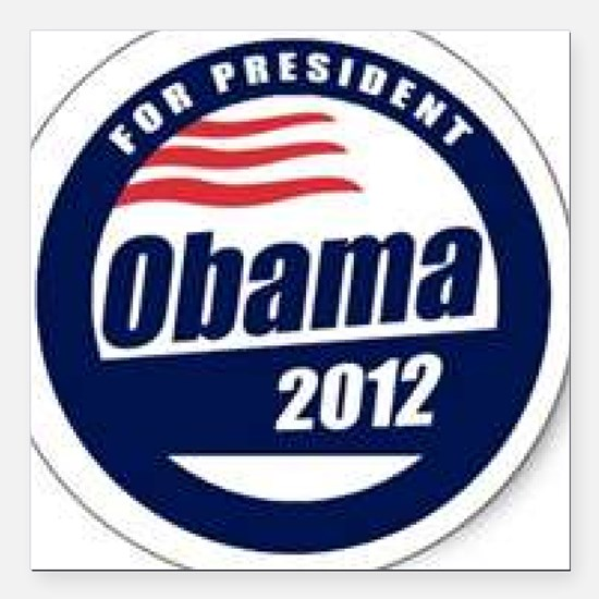 "Vote for obama Square Car Magnet 3"" x 3"""