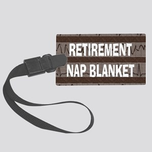 MEDICAL NAP BLANKET BROWN Large Luggage Tag