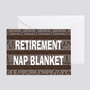MEDICAL NAP BLANKET BROWN Greeting Card