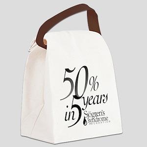 50-5_Logo-bwB Canvas Lunch Bag