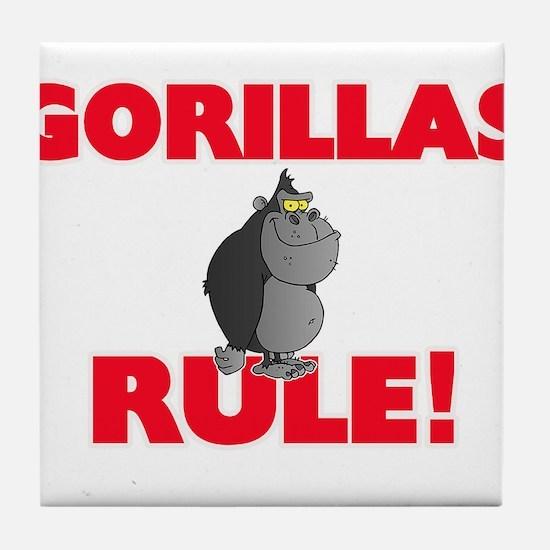 Gorillas Rule! Tile Coaster