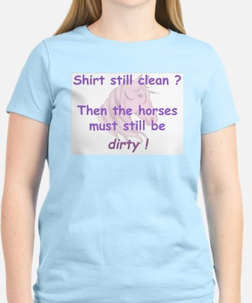 clean or dirty horse shirt (p Women's Light T-Shir