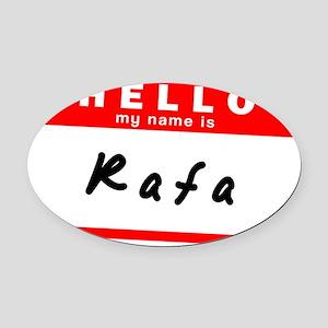 Rafa Oval Car Magnet
