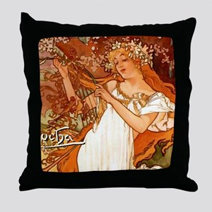 MuchaSpring7100 Throw Pillow