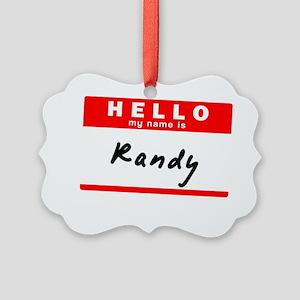 Randy Picture Ornament