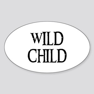 WILD CHILD Oval Sticker