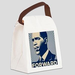 Obama Forward Canvas Lunch Bag