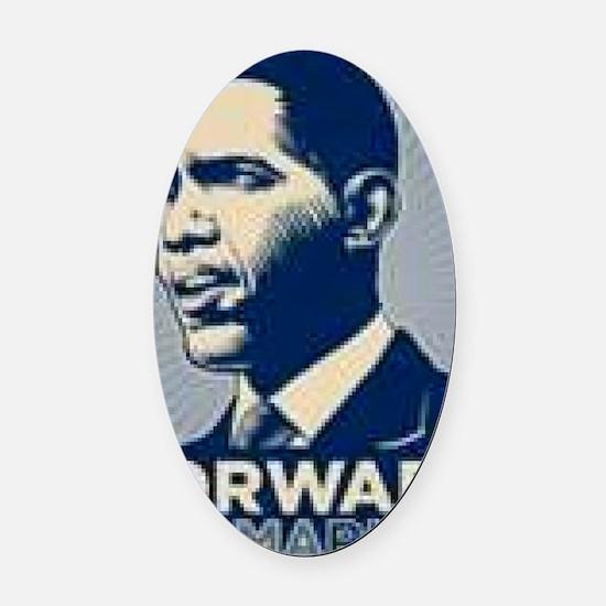 Obama Forward Oval Car Magnet