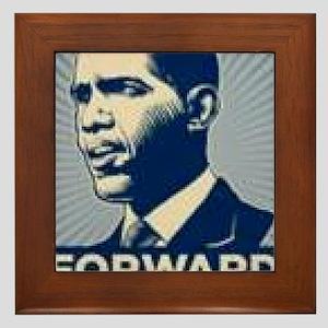Obama Forward Framed Tile