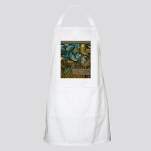 blue abstract floral sc Apron