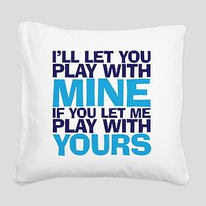 playmine copy Square Canvas Pillow