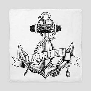 Ragged Isle Anchor Queen Duvet