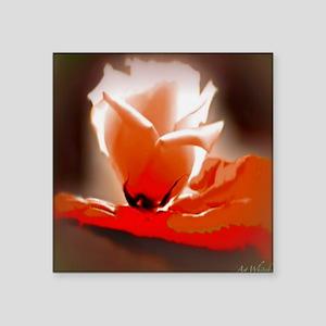 "Orange Rose 11 11 200 Square Sticker 3"" x 3"""