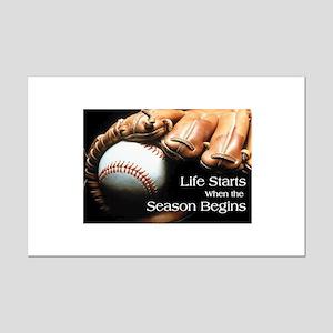 Life Starts when the Season Begins Mini Poster Pri