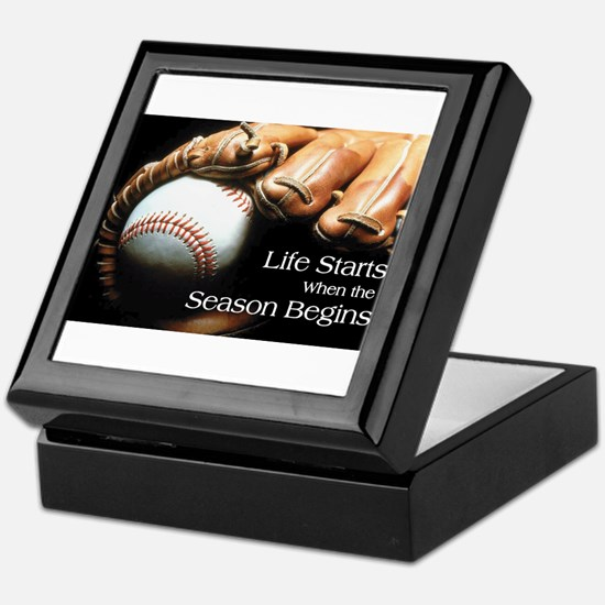 Life Starts when the Season Begins Keepsake Box