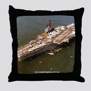 independence cv framed panel print Throw Pillow