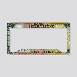 Sierra Leone License Plate Holder