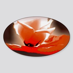 Orange Rose 31.5 21.5  200 Sticker (Oval)