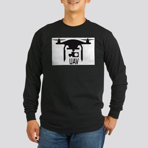 UAV Drone Silhouette Long Sleeve T-Shirt
