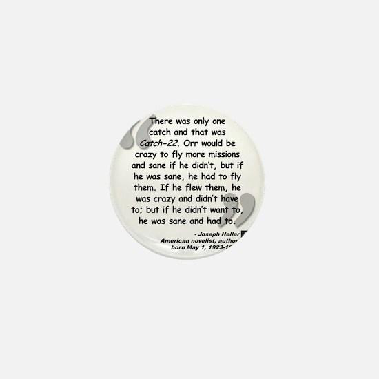 Heller Catch-22 Quote Mini Button