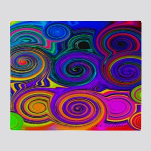 circles of color  35 23          200 Throw Blanket
