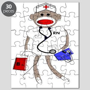 Nurse Sock Monkey Puzzle