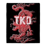 Taekwondo Dragon Throw Blanket