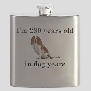 40 birthday dog years springer spaniel Flask
