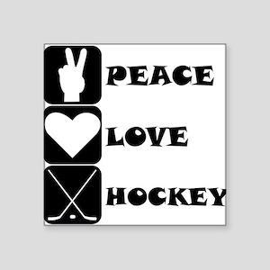 Peace Love Hockey Sticker