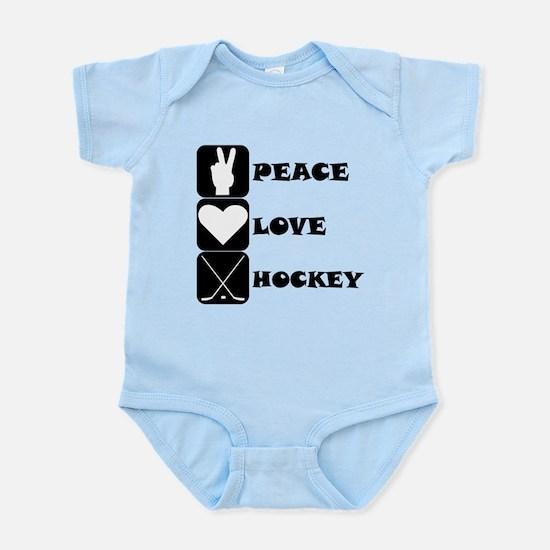 Peace Love Hockey Body Suit