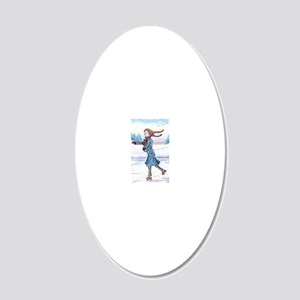 hitching a lift - cairn 20x12 Oval Wall Decal